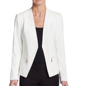 •Ivanka Trump• White Collarless Blazer